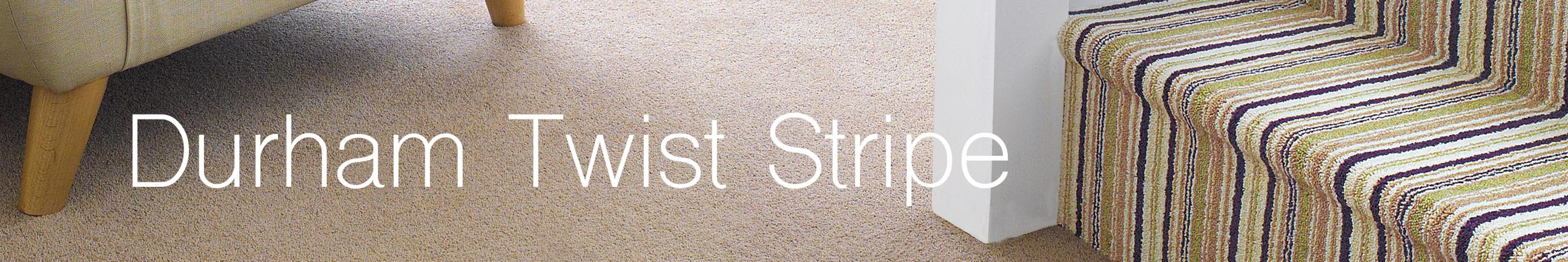 Durham Twist Stripe Carpet Header